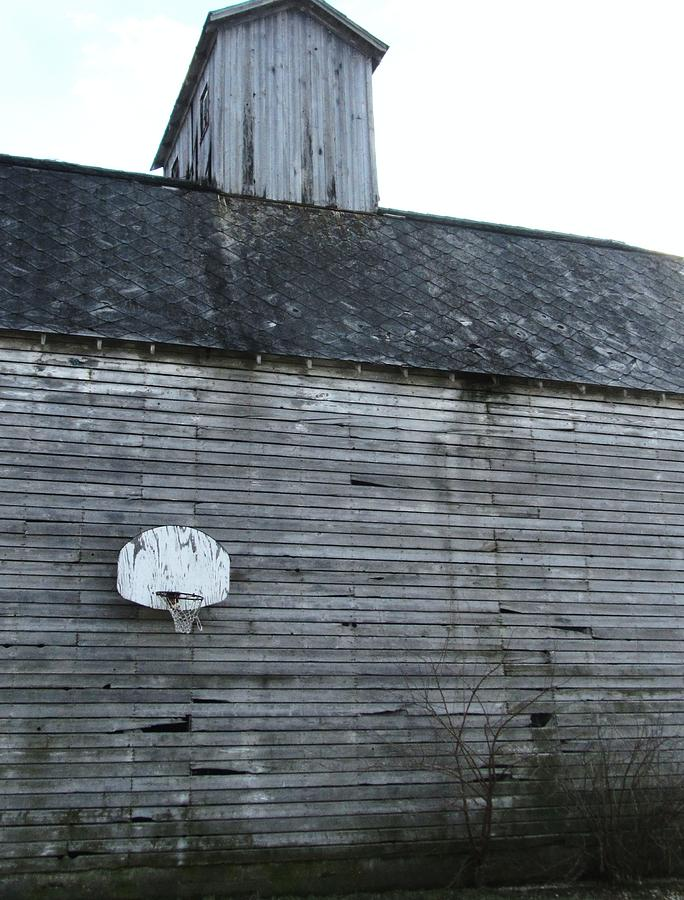 Barn With Old Basketball Hoop Photograph - Hoops Number Two by Todd Sherlock