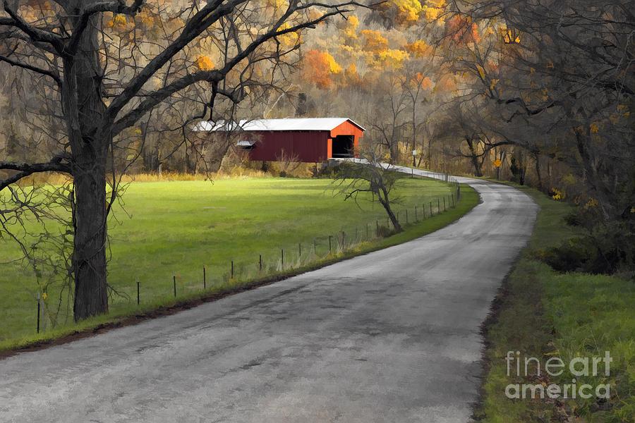 Digital Photograph - Hoosier Autumn - D007843a by Daniel Dempster