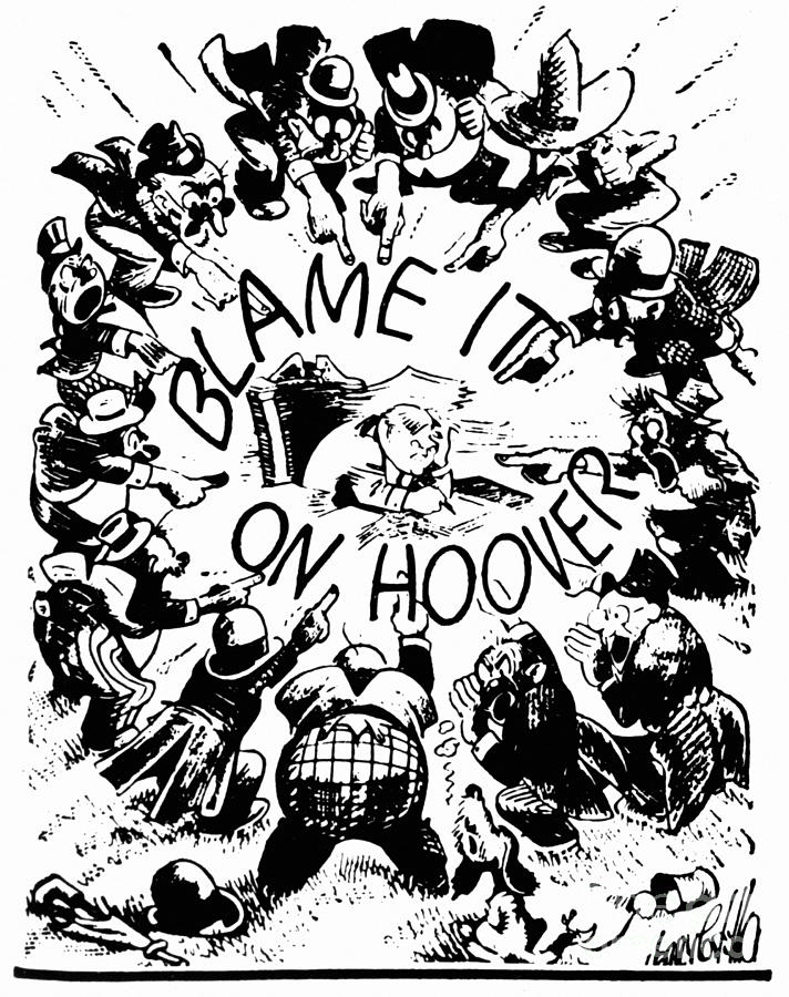Hoover Cartoon, 1931 Photograph