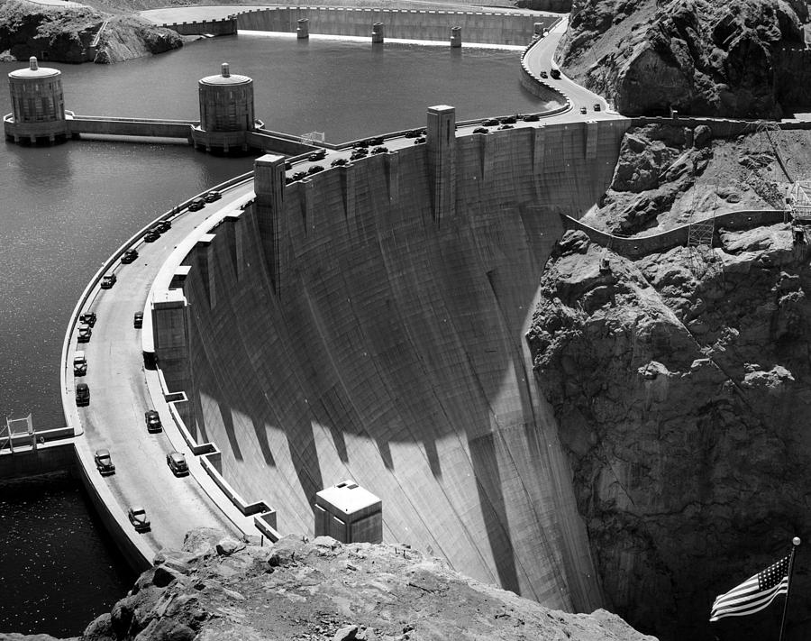 Hoover Dam, 1948 Photograph
