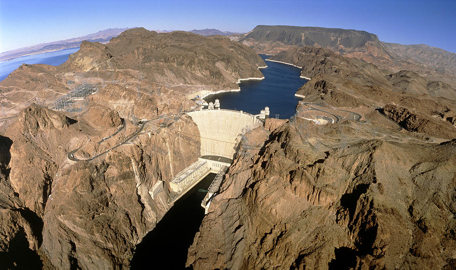 Hoover hydroelectric dam colorado river usa photograph