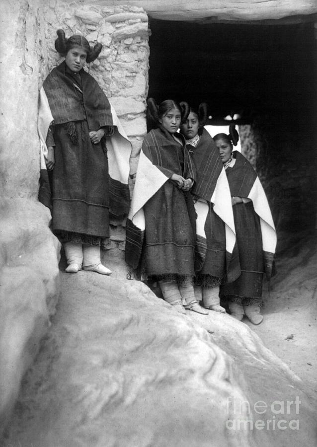 Hopi Maidens, 1906 Photograph