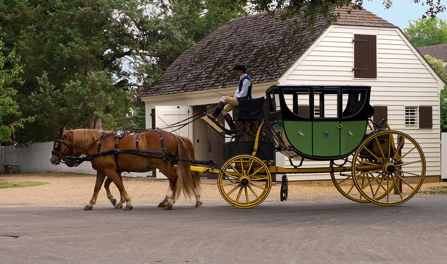 Old Horse Drawn Wooden Cart On Display At Briars Historic Park In ...