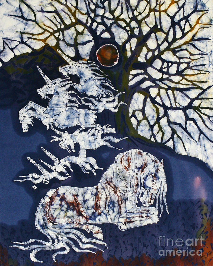 Horse Dreaming Below Trees Tapestry - Textile