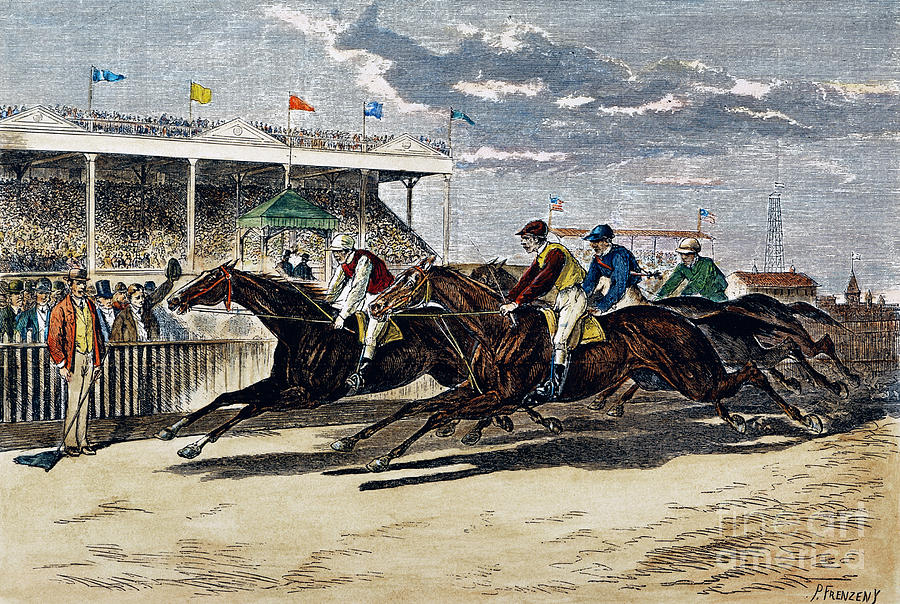 Horse Racing, Ny, 1879 Photograph  - Horse Racing, Ny, 1879 Fine Art Print
