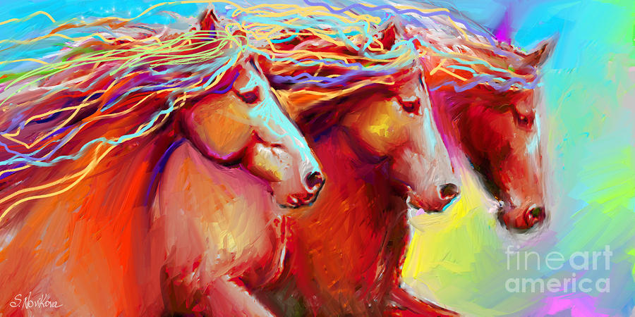 Horse Stampede Painting Painting