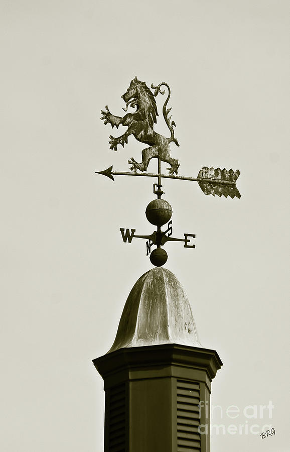 Horse Weathervane In Sepia Photograph  - Horse Weathervane In Sepia Fine Art Print