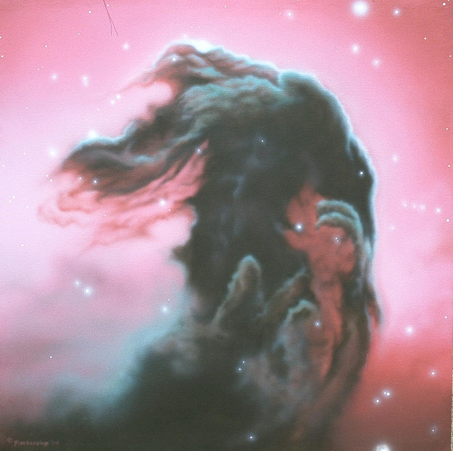 Horsehead Nebulea Painting  - Horsehead Nebulea Fine Art Print