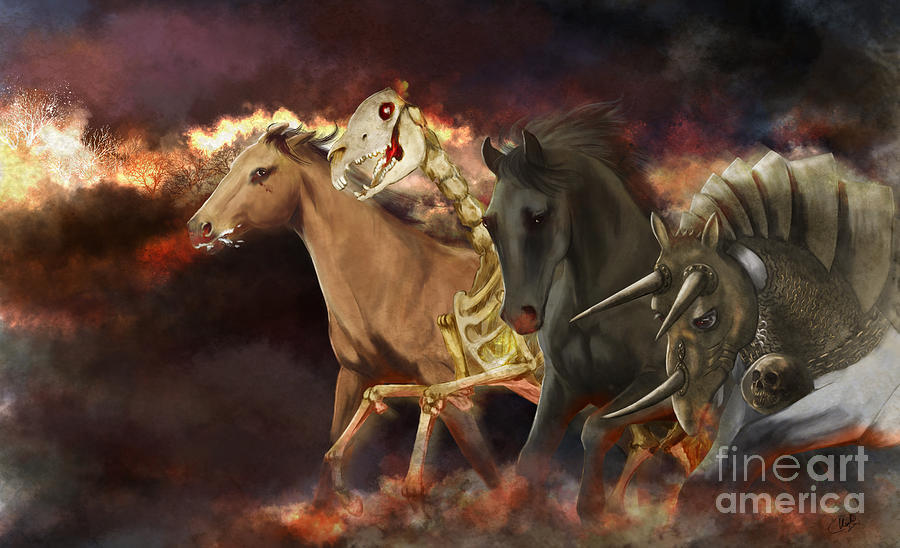 Horses Of The Apocalypse Painting  - Horses Of The Apocalypse Fine Art Print