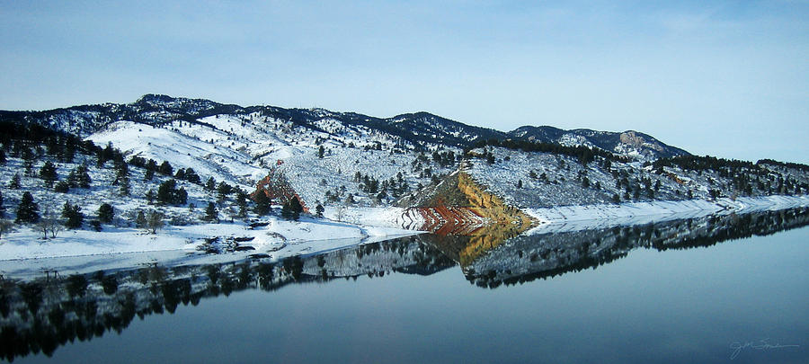 Lake Photograph - Horsetooth Reflections by Julie Magers Soulen