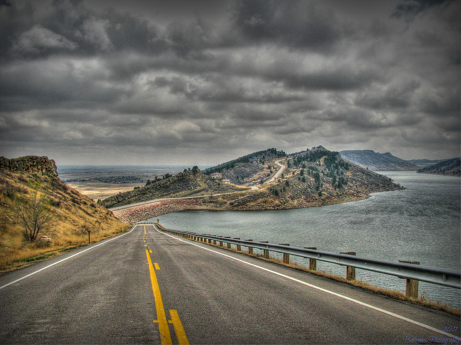 Horsetooth Reservoir Stormy Skies Hdr Photograph