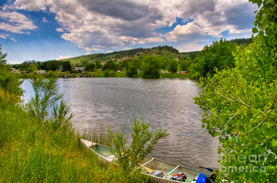 Horsetooth Reservoir Summer Scene Photograph