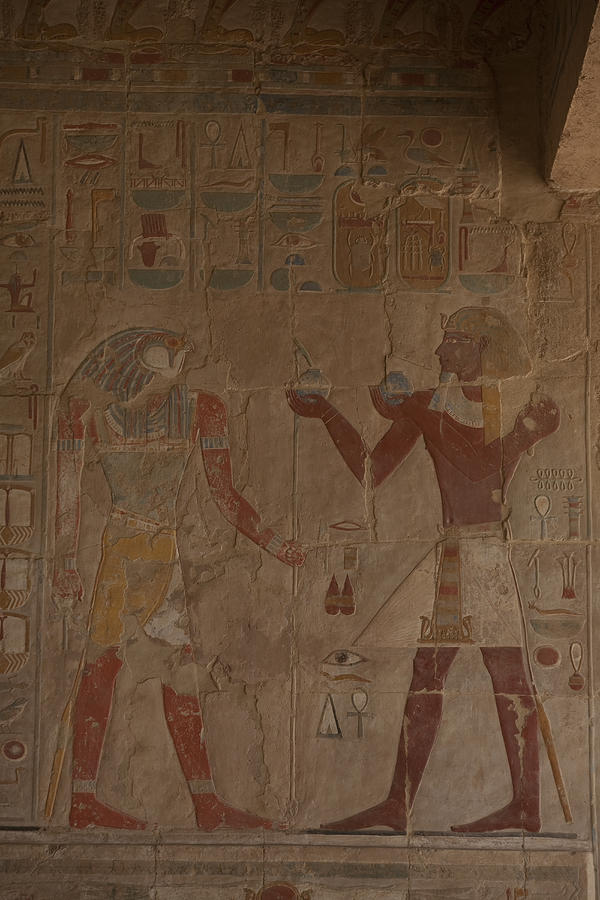 Horus Is Shown Receiving Gifts Photograph  - Horus Is Shown Receiving Gifts Fine Art Print
