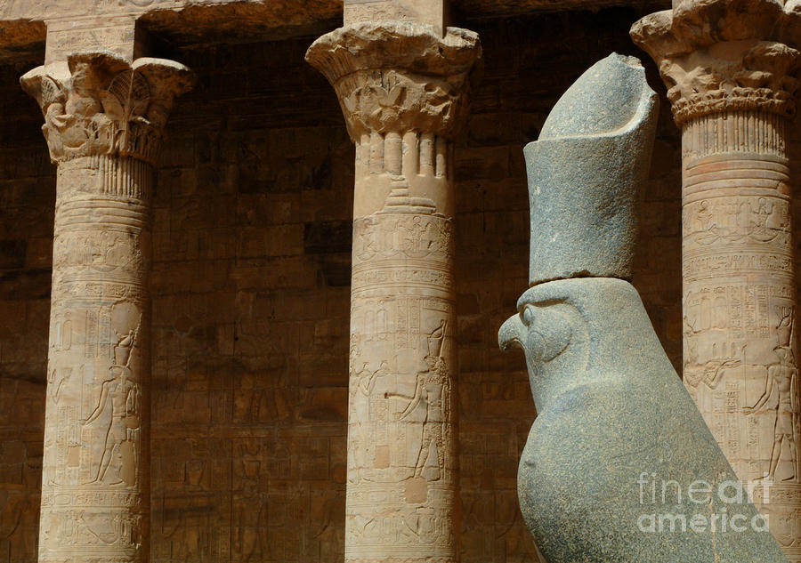 Horus Temple Of Edfu Egypt Photograph  - Horus Temple Of Edfu Egypt Fine Art Print
