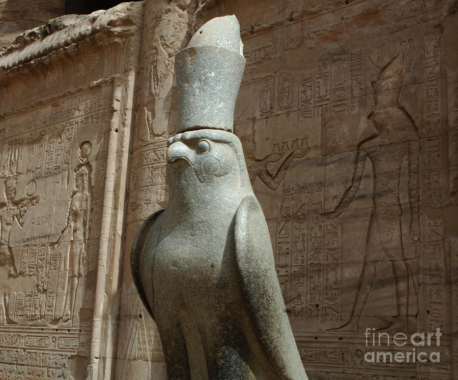 Horus The Falcon At Edfu Photograph