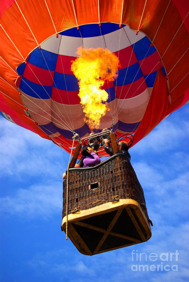 Air Photograph - Hot Air Balloon by Carlos Caetano