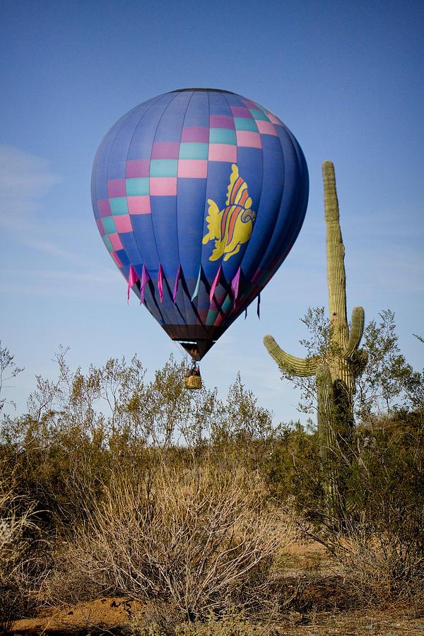 Hot Air Balloon Flight Over The Lush Arizona Desert Photograph