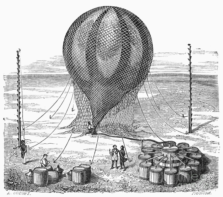 Hot Air Balloon Inflation Photograph