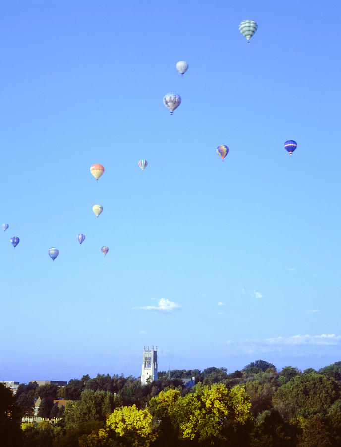 Hot Air Balloons Over Omaha Photograph