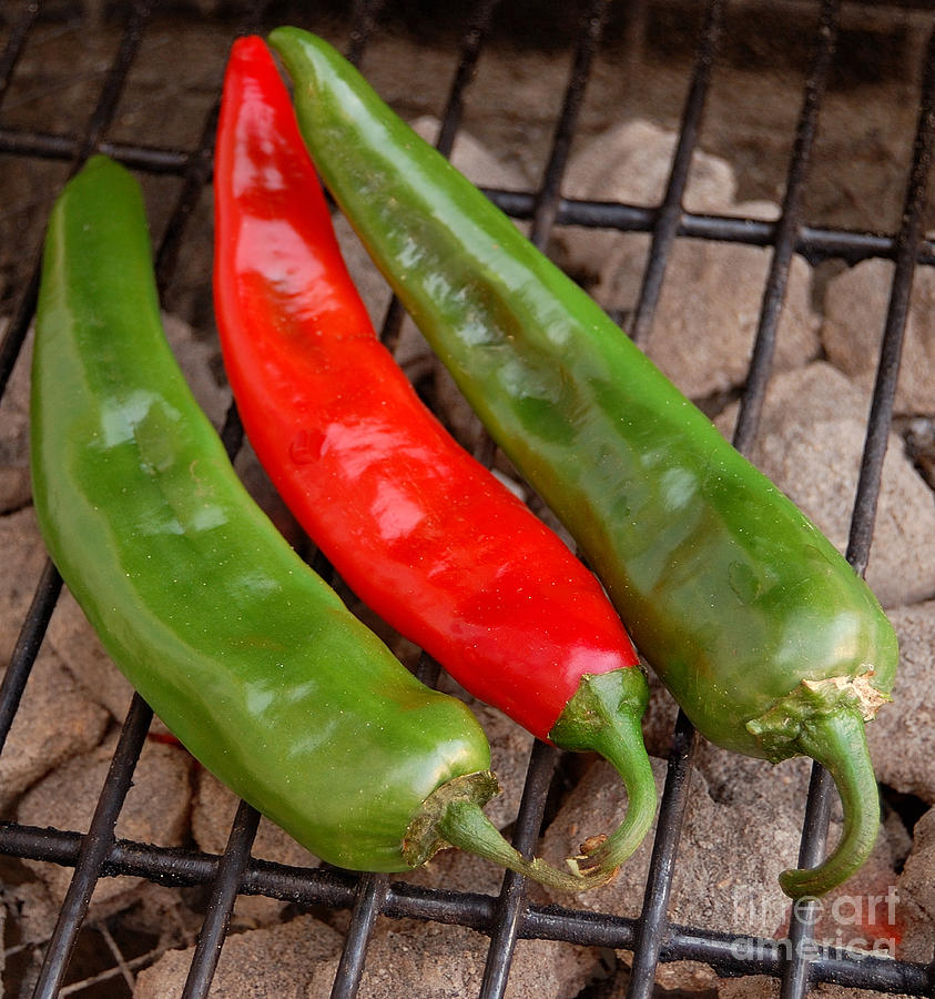 Hot And Spicy - Chiles On The Grill Photograph  - Hot And Spicy - Chiles On The Grill Fine Art Print