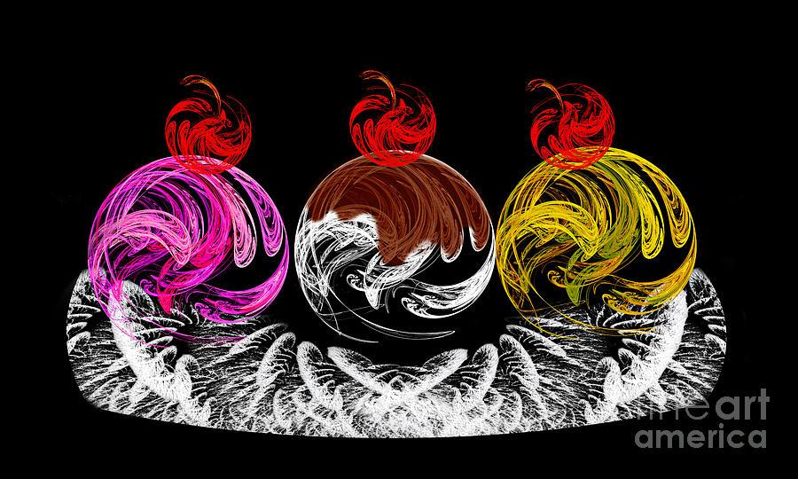 Hot Fudge Ice Cream Boat Digital Art