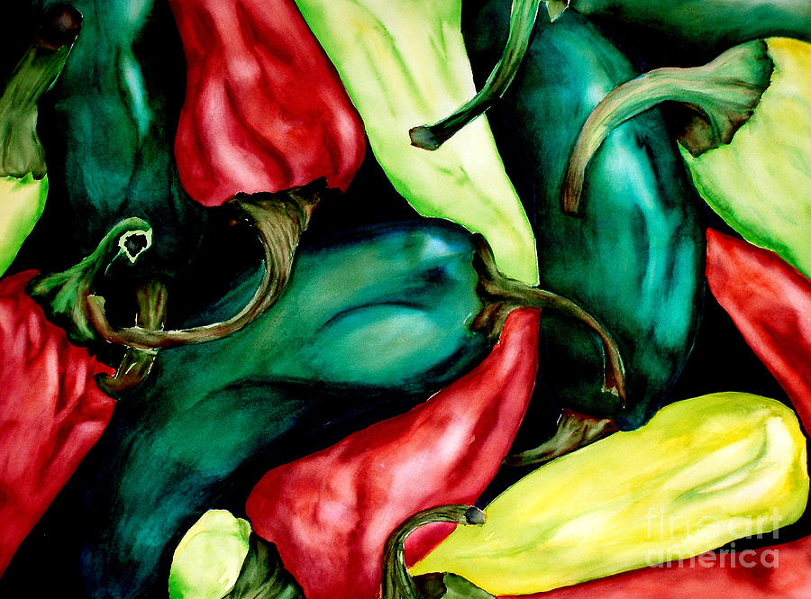 Hot Peppers Painting  - Hot Peppers Fine Art Print
