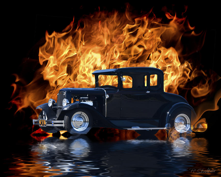 Hot Rod Digital Art  - Hot Rod Fine Art Print