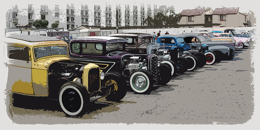 Hot Rod Row Photograph  - Hot Rod Row Fine Art Print