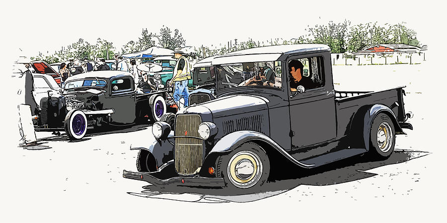 Hot Rod Show Trucks Photograph  - Hot Rod Show Trucks Fine Art Print