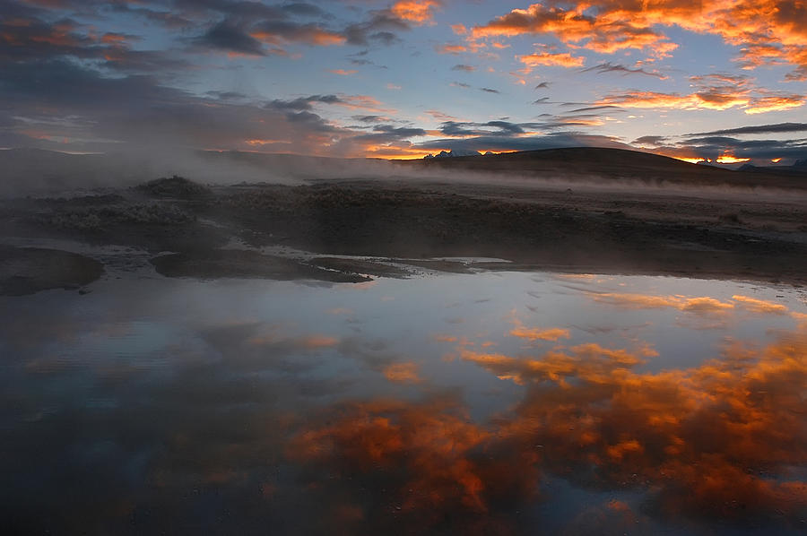 Hot Springs In The Bolivian Altiplano. Photograph