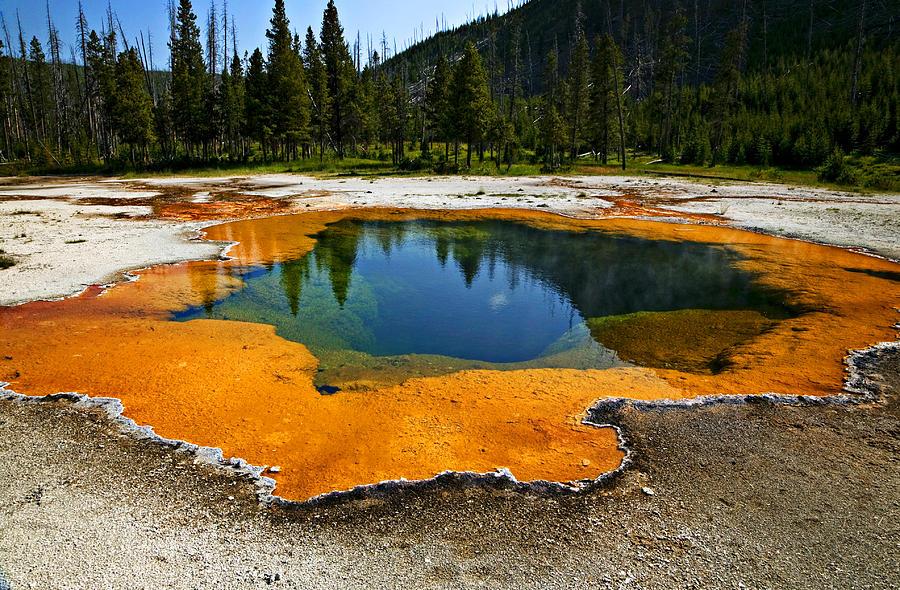 Hot Springs Yellowstone Photograph