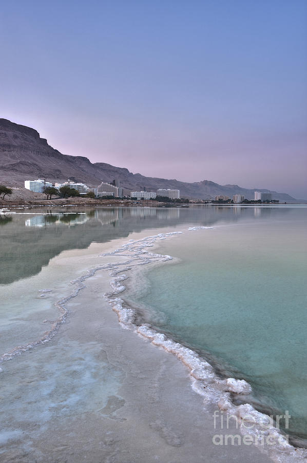 Hotel On The Shore Of The Dead Sea Photograph