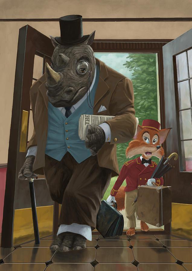Hotel Rhino And Porter Fox Painting