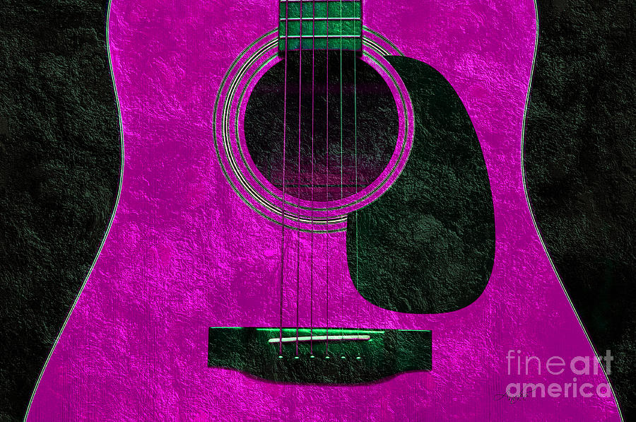 Hour Glass Guitar Pink 1 T Photograph  - Hour Glass Guitar Pink 1 T Fine Art Print