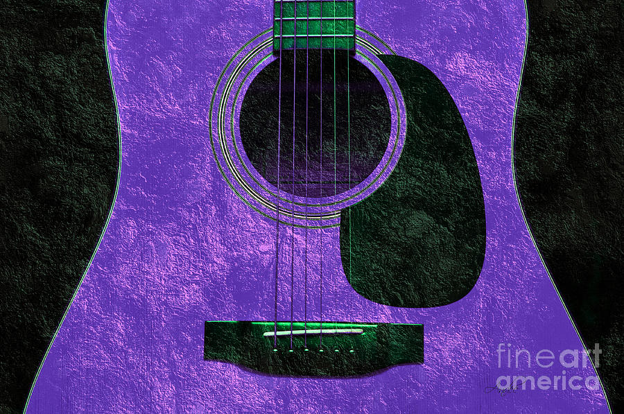 Hour Glass Guitar Purple 2 T Photograph