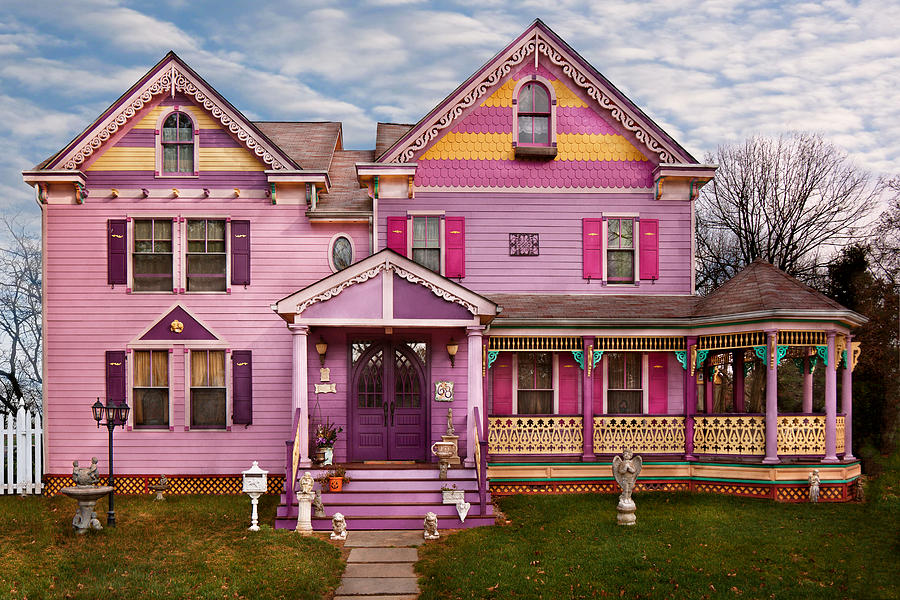 house victorian i love bright colors photograph by