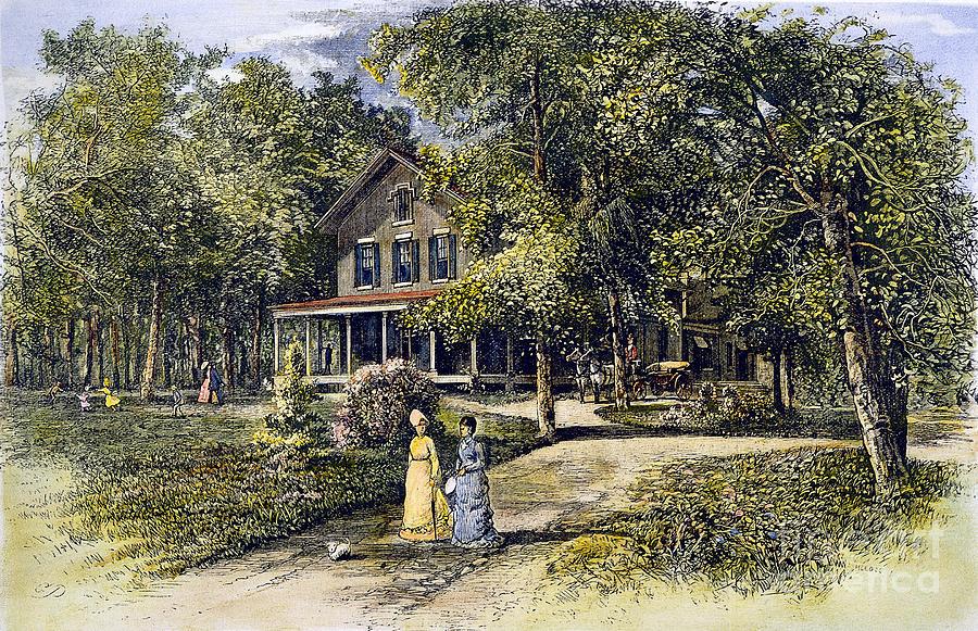 House, 19th Century Photograph