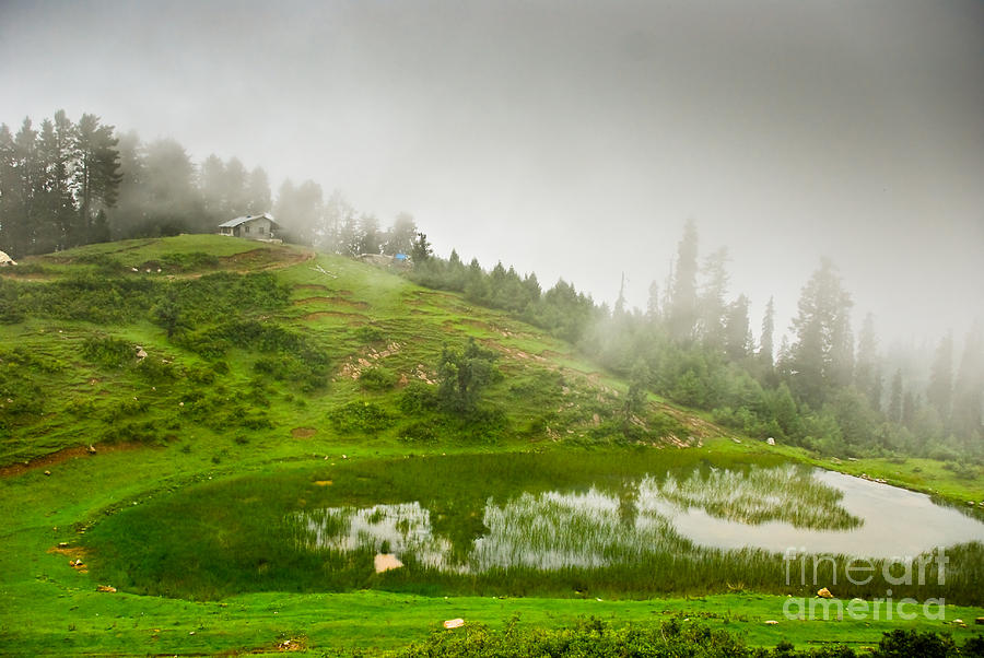 Hut Photograph - House And Fog by Syed Aqueel