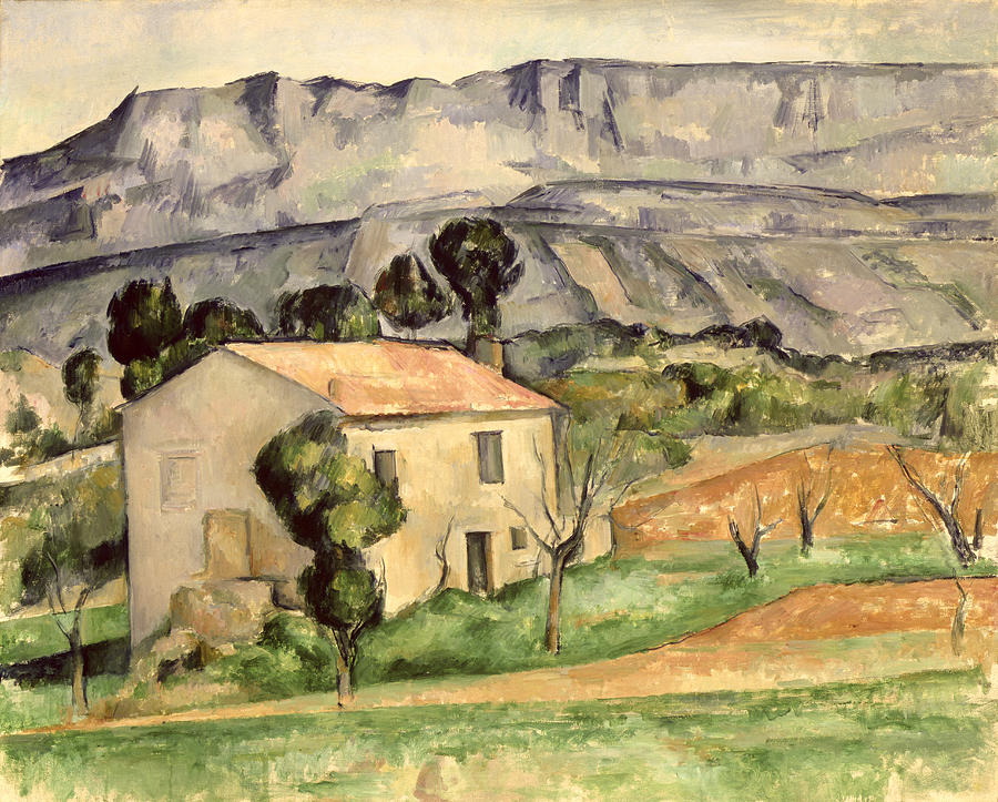 House In Provence Painting