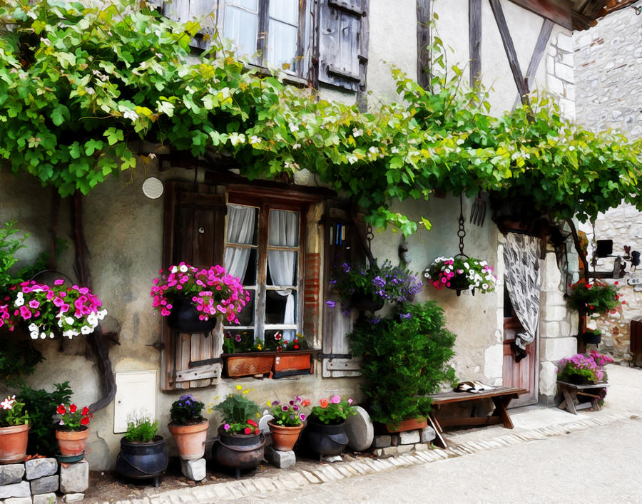 House In Pujols France Photograph  - House In Pujols France Fine Art Print