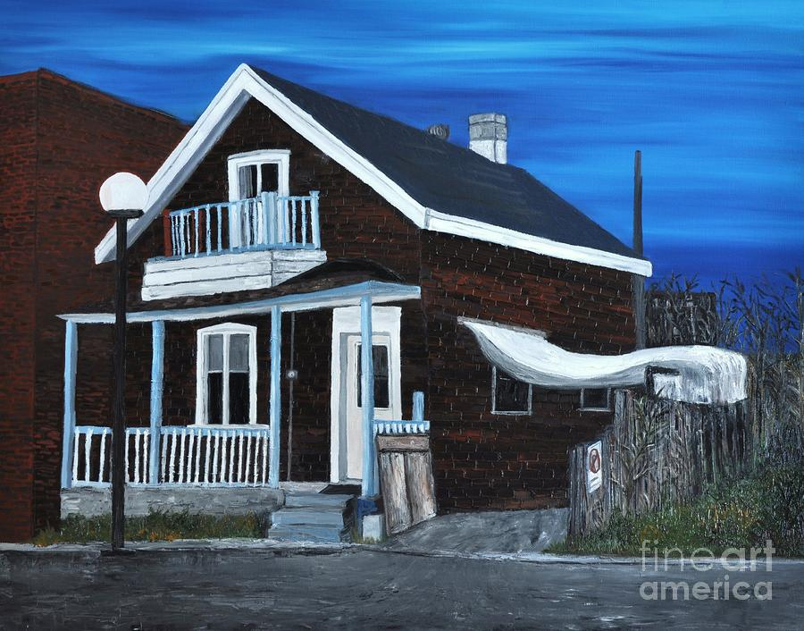 House On Hadley Street Painting  - House On Hadley Street Fine Art Print