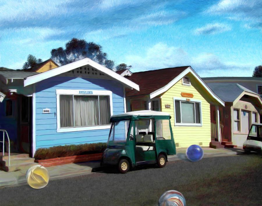 Houses In A Row Digital Art