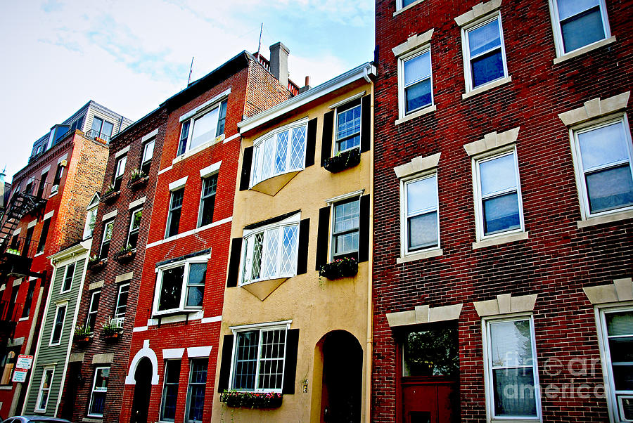 Houses In Boston Photograph  - Houses In Boston Fine Art Print