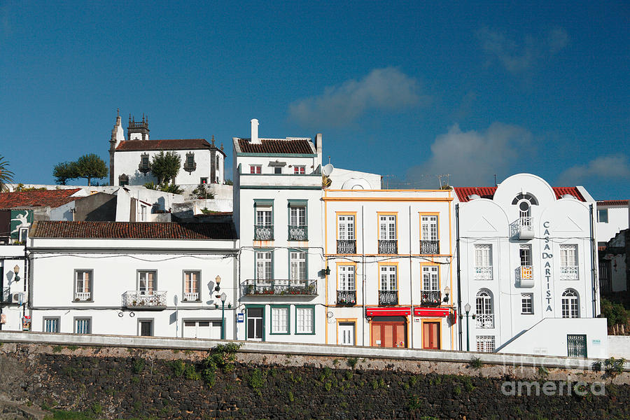 Houses In Ponta Delgada Photograph  - Houses In Ponta Delgada Fine Art Print