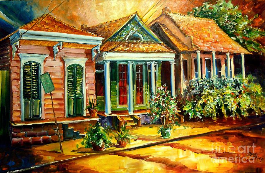 Houses In The Marigny Painting  - Houses In The Marigny Fine Art Print