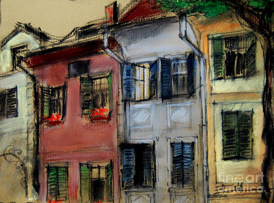 Houses In Transylvania 1 Pastel