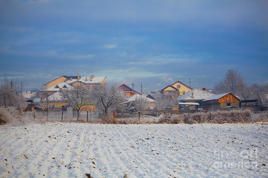 Houses In Winter Photograph  - Houses In Winter Fine Art Print