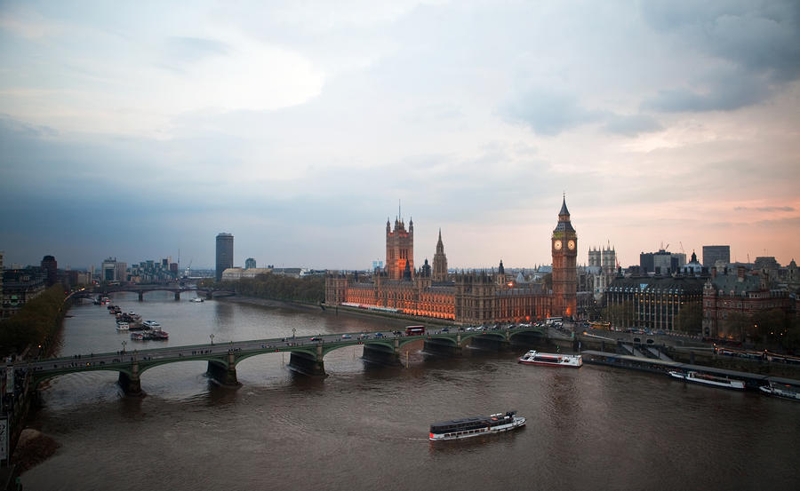 Houses Of Parliament From The London Eye Photograph