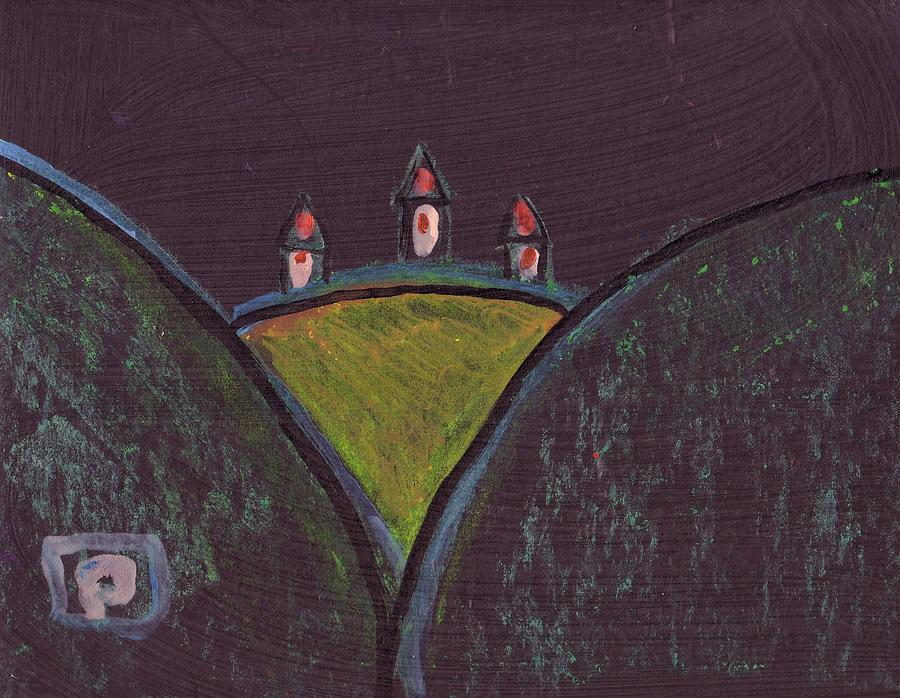 Houses On A Hill Mixed Media  - Houses On A Hill Fine Art Print
