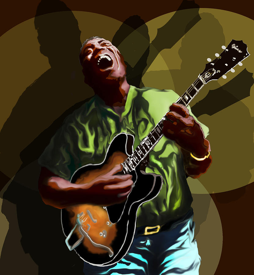 Howlin Wolf Digital Art